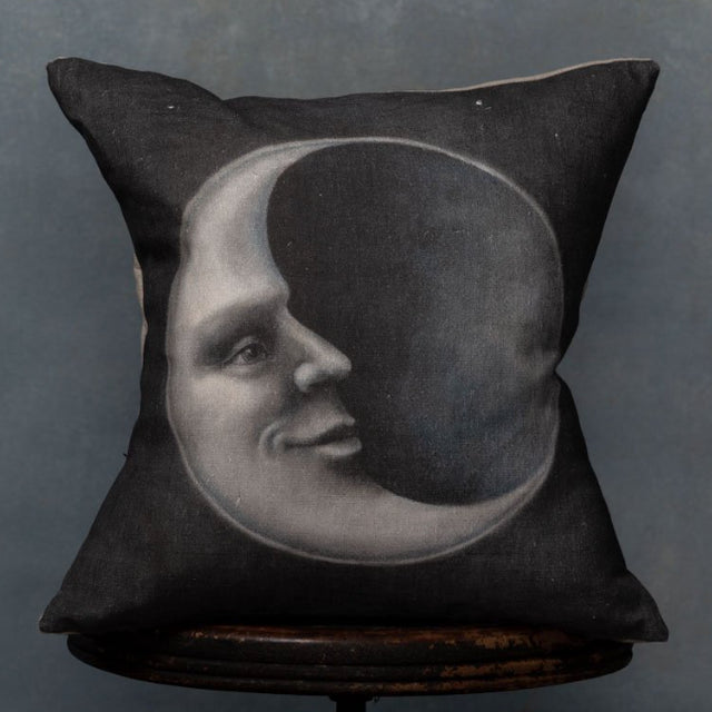 Anita Mertzlin Man In The Moon Linen Cushion