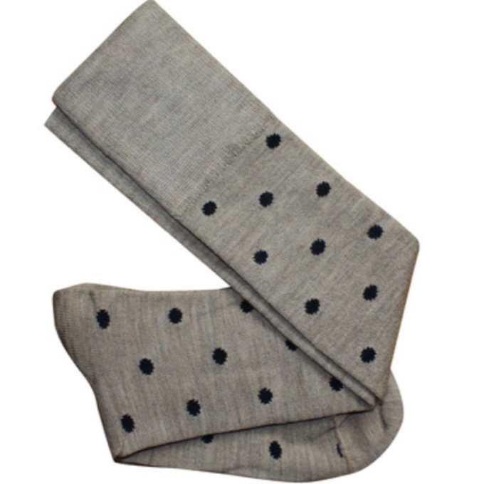 Merino Knit Dotty Knee High Socks