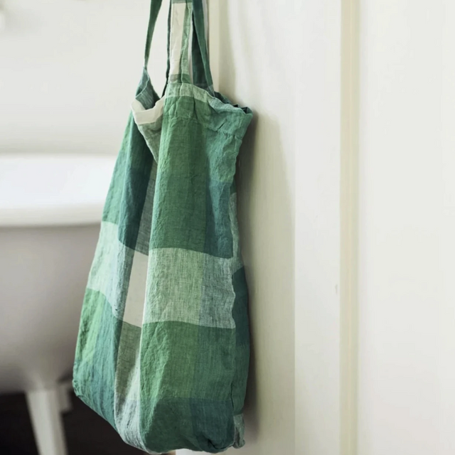 Society Of Wanderers French Flax Linen Tote Bag