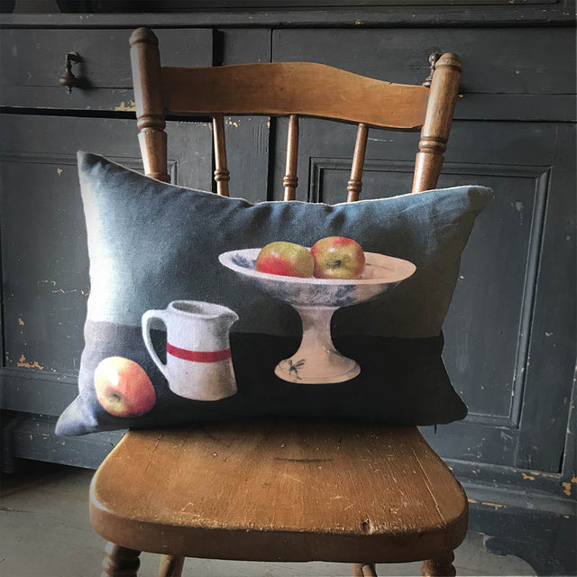 Anita Mertzlin Limited Edition Apples Linen Cushion