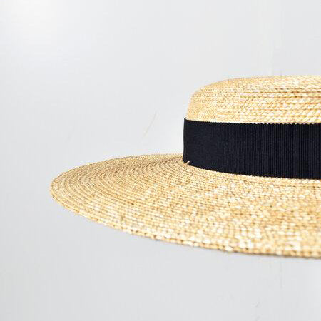 Mature Ha Braided Straw Boater Hat