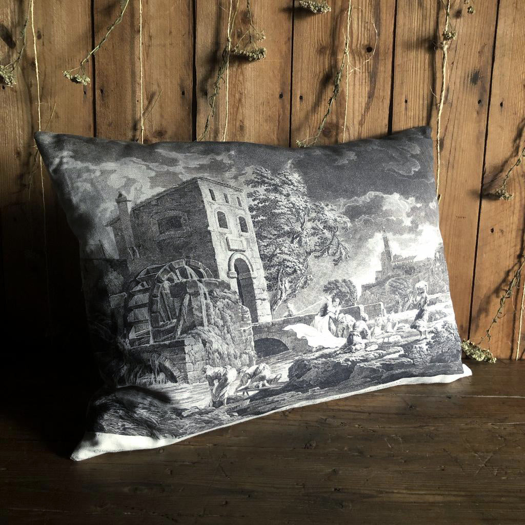 Vox Populi Antique French Engraving Print Linen Cushion
