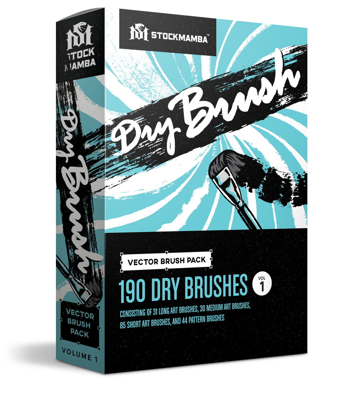 Dry Brush Vector Brush Pack - VOLUME 1