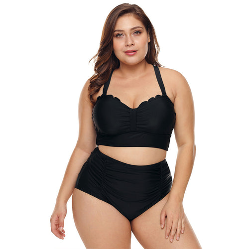 Plus Size Strappy Push Up High Waisted Bikini Bathing Suits