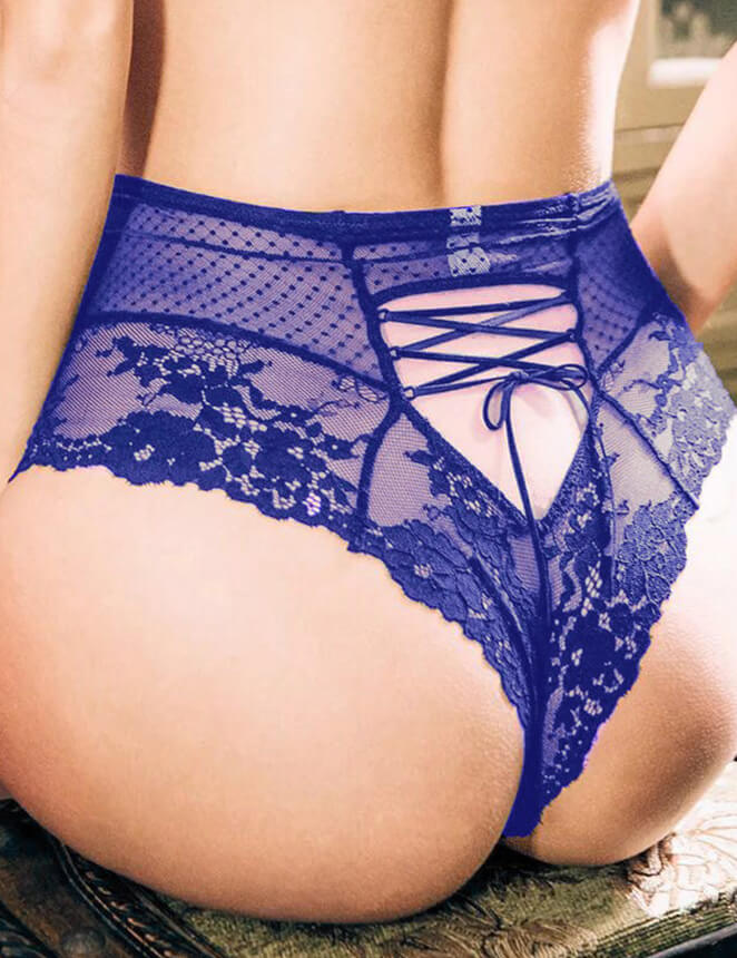 Plus Trendy Womens Plus Size Lingerie Boyshorts Panties Brief Sexy Lace High Waisted Briefs