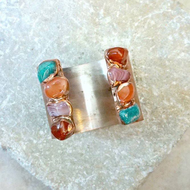 Bottle Rock Gemstone Cuff