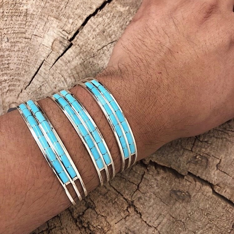Double Row Zuni Turquoise Cuff