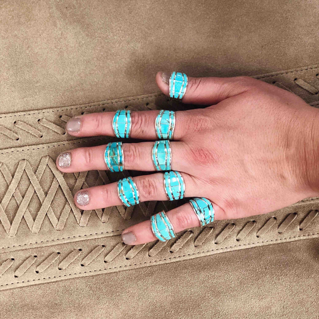 RINGS – TURQUOISE OVER DIAMONDS