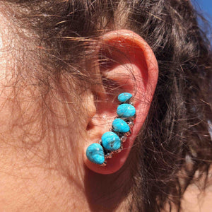 Natural Turquoise Ear Climber