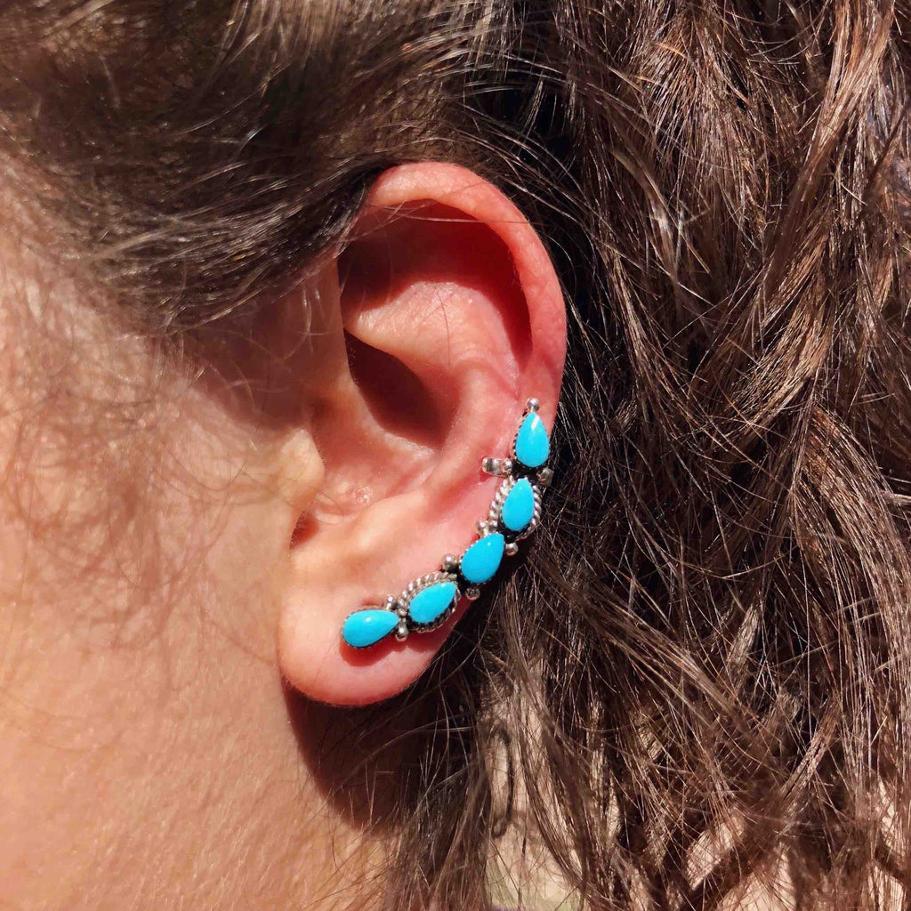 Petite Turquoise Ear Climber