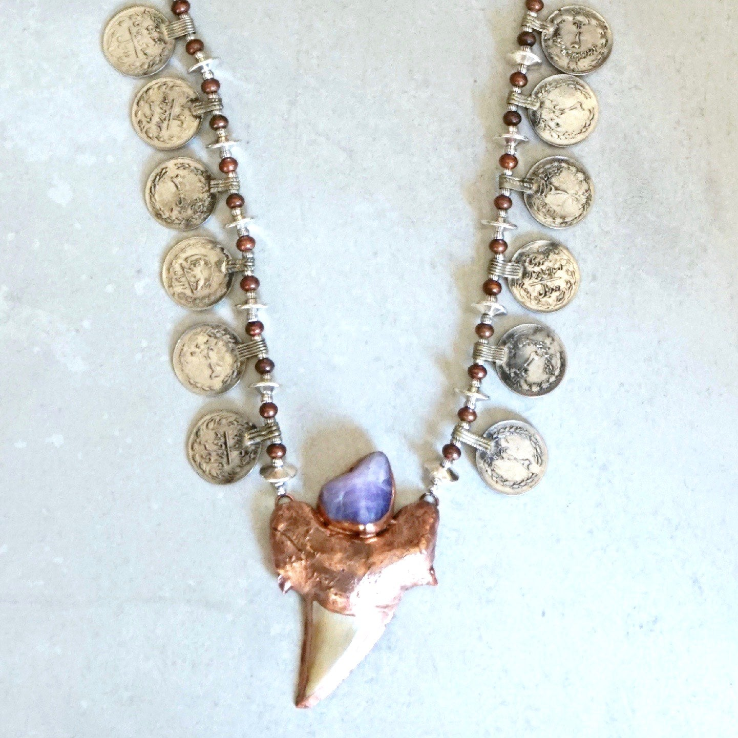 GypSea Shark Tooth Coin Necklace
