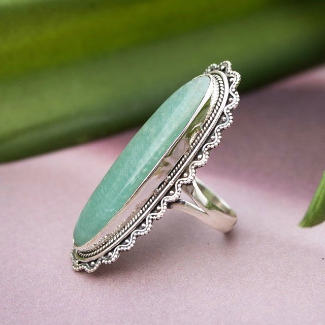 Amazonite Sterling Silver Ring