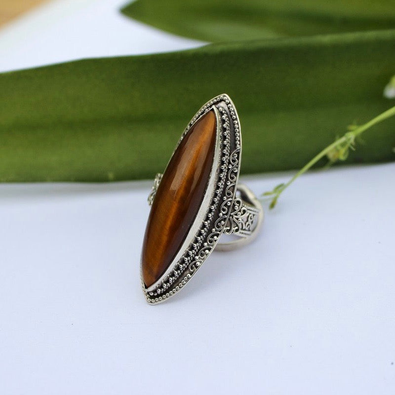 Statement Tigers Eye Ring