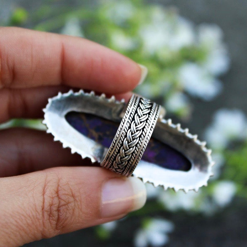 Mohave Purple Turquoise Sterling Ring