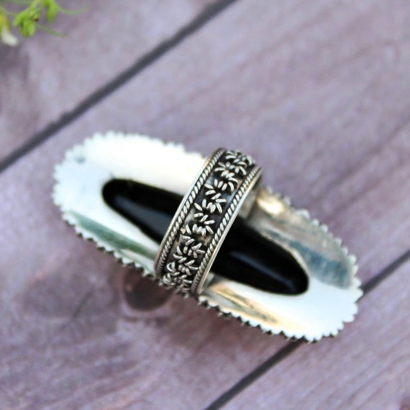 Black Onyx Statement Sterling Ring