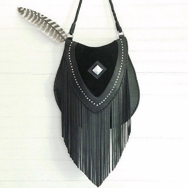 Venus Fringe Leather Crossbody Bag