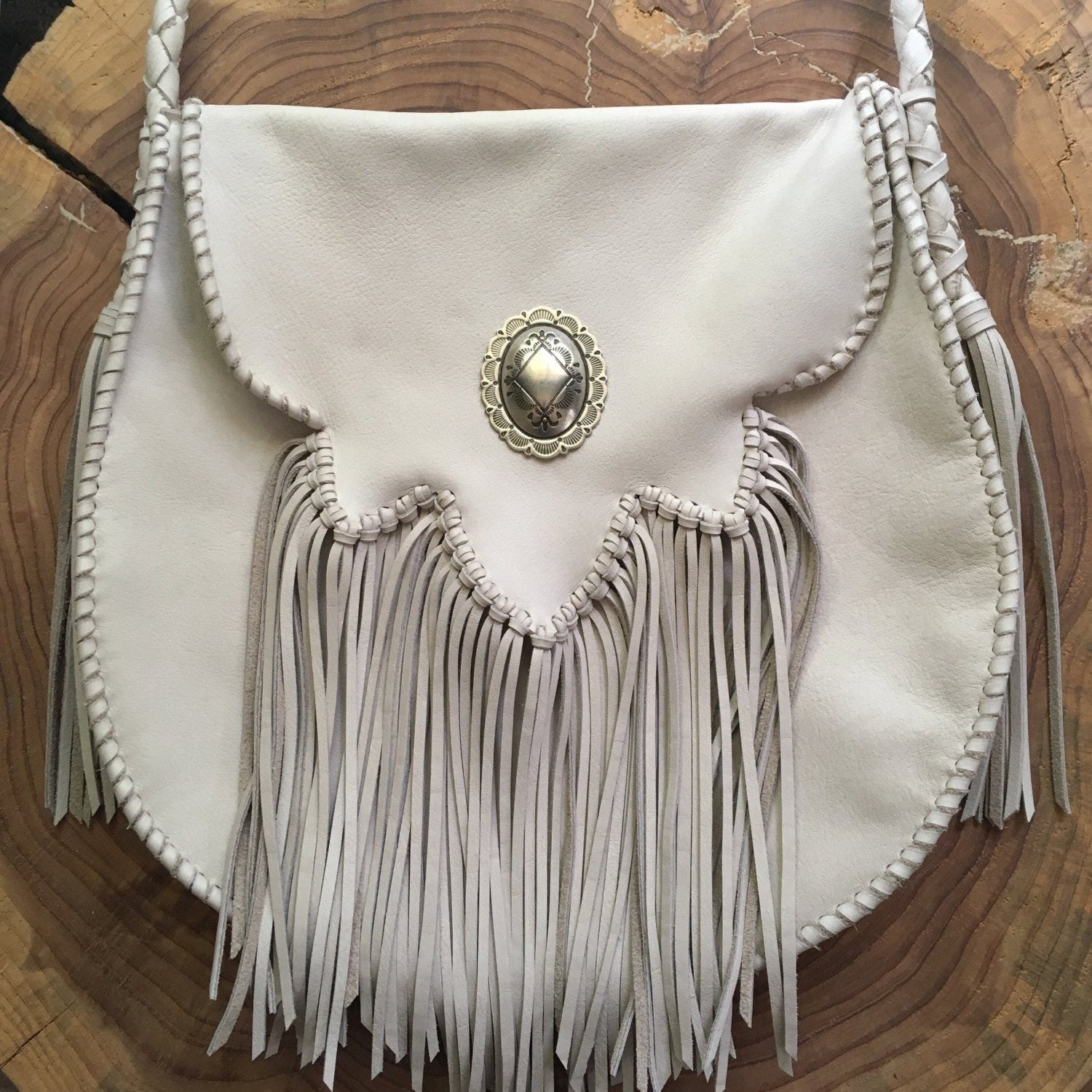 Sierra Fringe Bag+ Crystal Quartz Crystal or Concho
