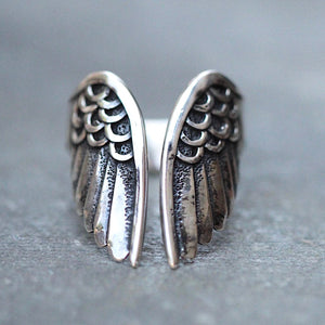 Angel Wings Silver Ring