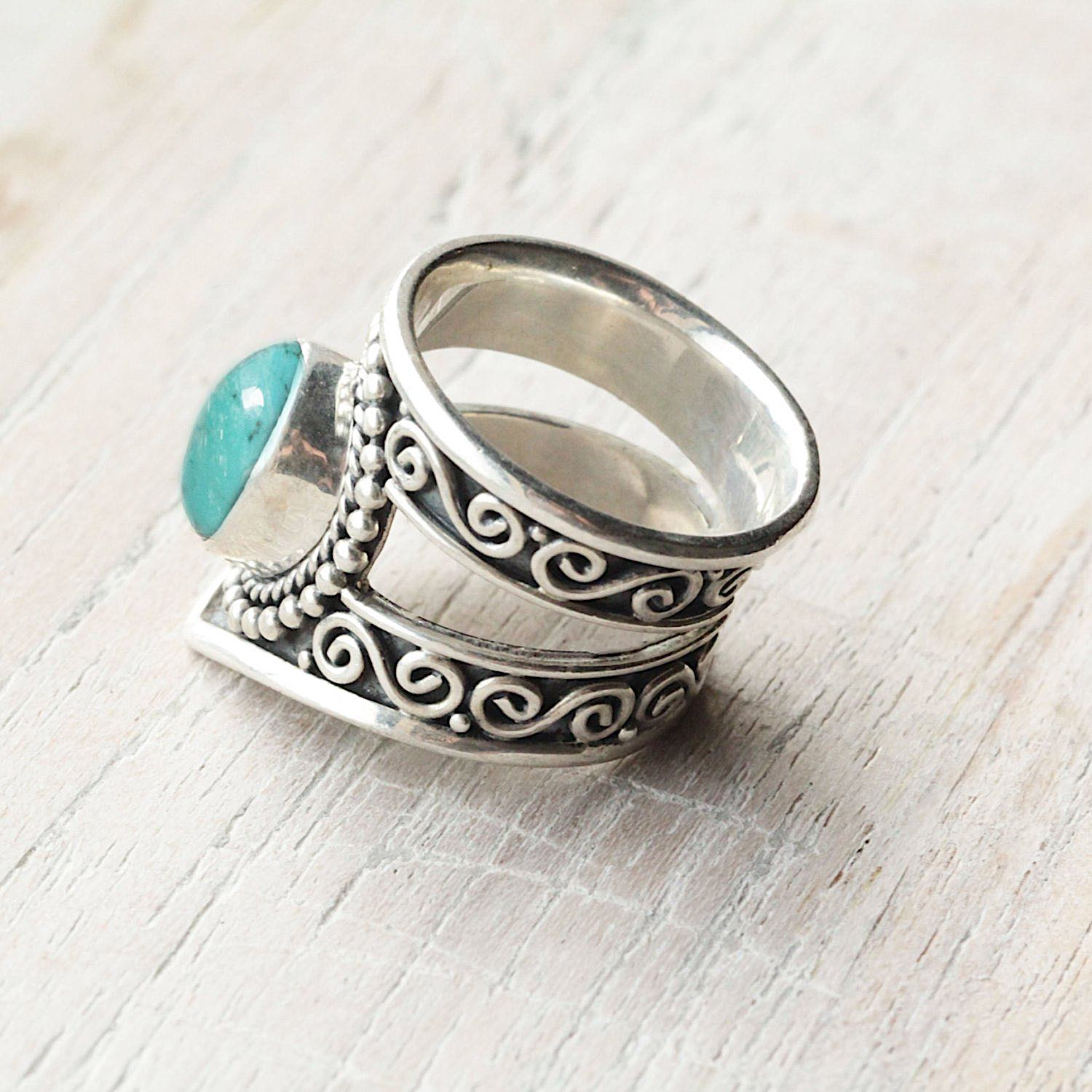 Turquoise Silver Statement Ring