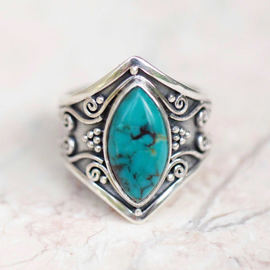 Marquise Turquoise Ring