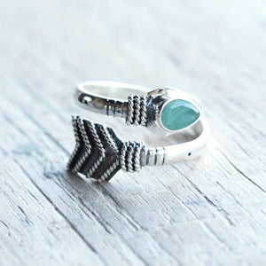 Emerald Arrow Ring
