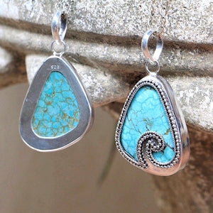 Turquoise Waves Necklace