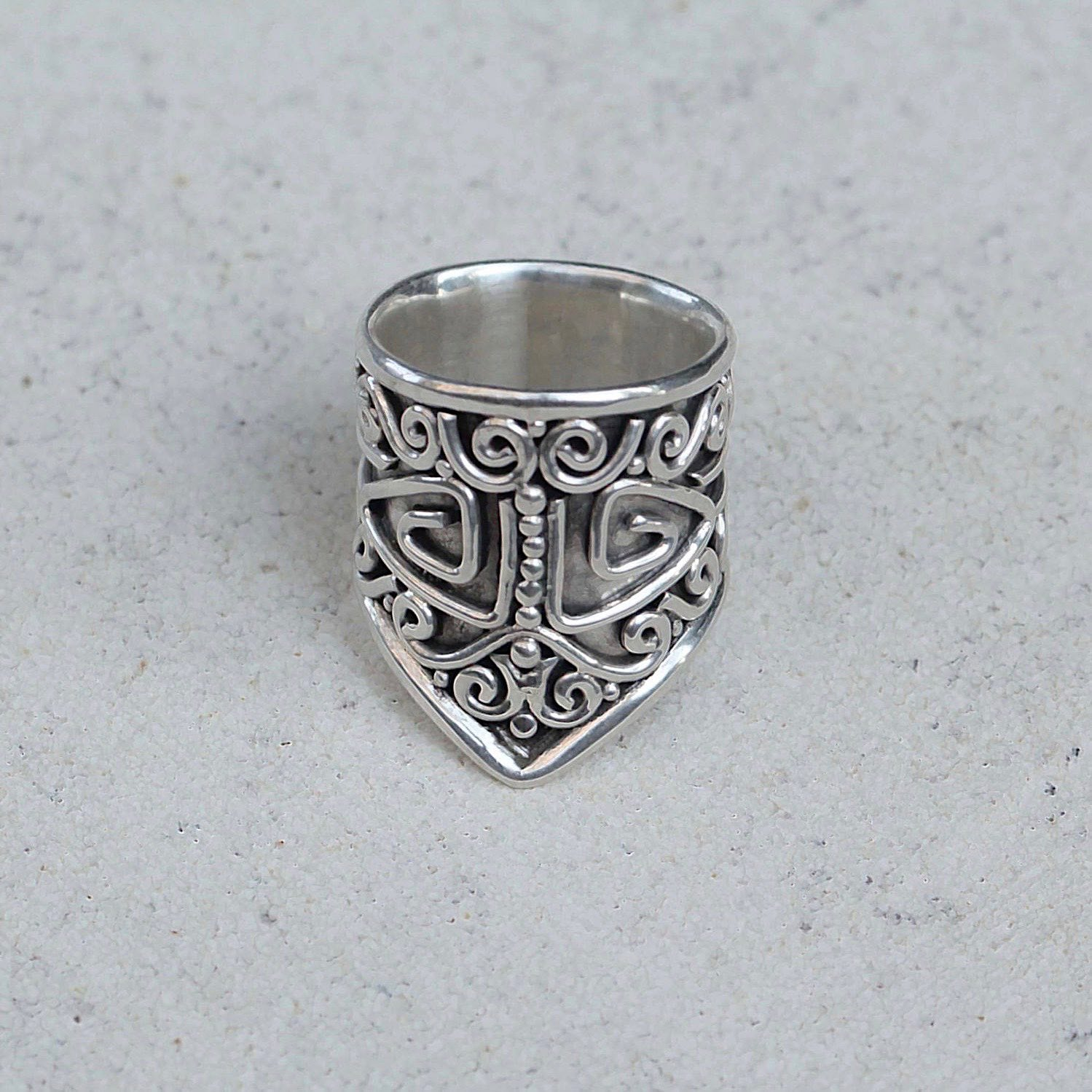 Solid Sterling Silver Chevron Ring
