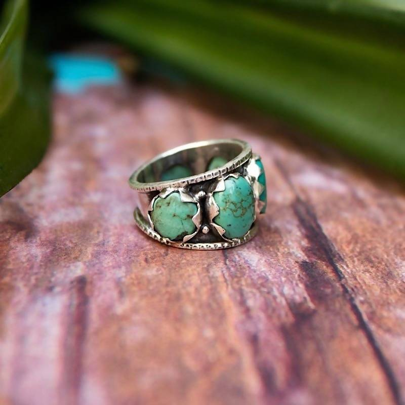 Five Stone Turquoise Ring