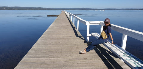 @janepogi in Central Coast, Sydney, Australia wearing Lyaya Freedom Leggings