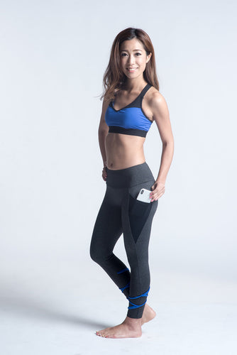 Lyaya Blues for Fun Sports Bra and Leggings Set