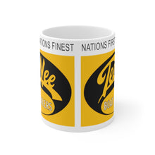 Tee Nee Boat Trailers White Ceramic Mug by Retro Boater