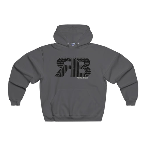 Retro Boater Logo in Black NUBLEND® Hooded Sweatshirt