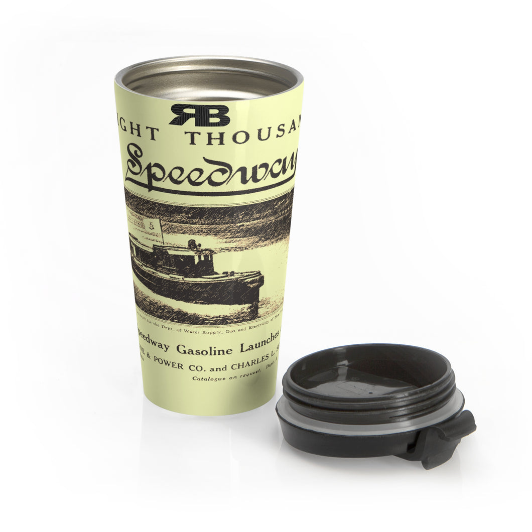 Speedway Engine and Boat Co Travel Mug by Retro Boater