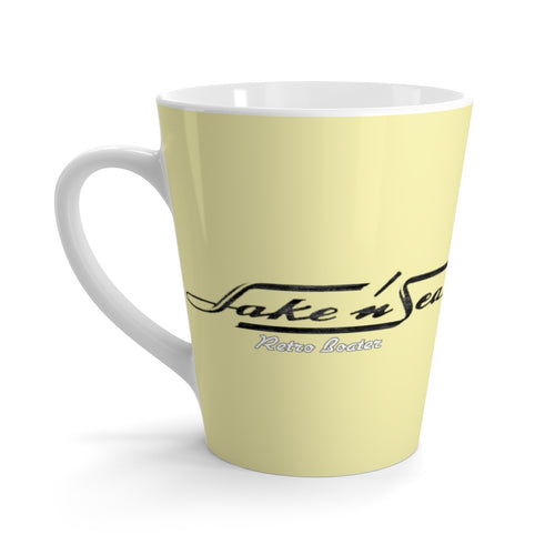 Lake and Sea Latte mug by Retro Boater