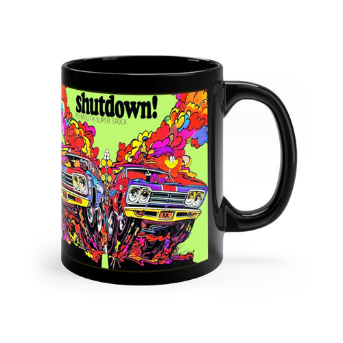 Mopar Plymouth Roadrunner Superstock Black mug 11oz by SpeedTiques
