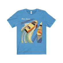 Dual Cockpit Art by Retro Boater Unisex Jersey Short Sleeve Tee
