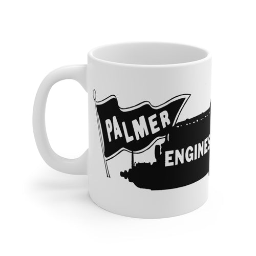 Palmer Boat Marine Engines White Ceramic Mug by Retro Boater