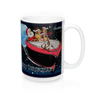 Santa's Got A Brand New Sleigh! 15oz Mug by Retro Boater