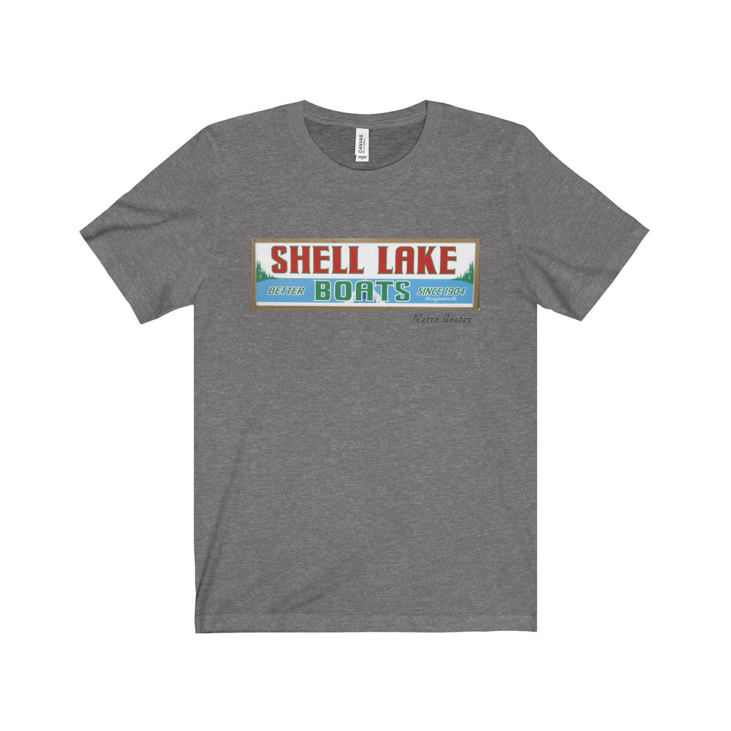 Shell lake by Retro Boater Unisex Jersey Short Sleeve Tee