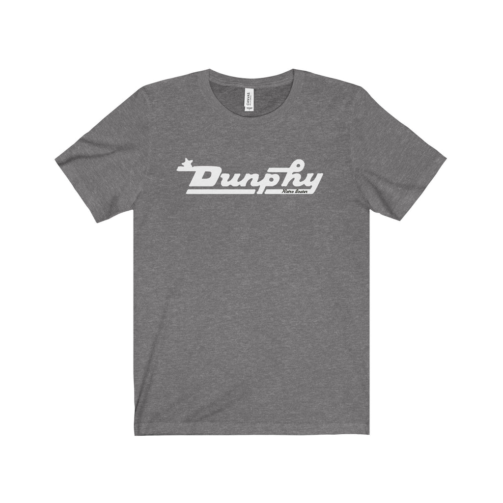 Dunphy in White by Retro Boater Unisex Jersey Short Sleeve Tee