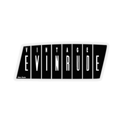 Vintage Evinrude Outboard Engines Kiss-Cut Stickers by Retro Boater