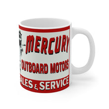 Vintage Mercury Outboard Motors Mug 11oz by Retro Boater