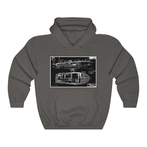 Vintage 1955 Chris Craft Cobra Unisex Heavy Blend™ Hooded Sweatshirt By Retro Boater