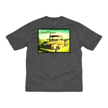 1956 Chevy Pickup Shop Truck Men's Heather Dri-Fit Tee By SpeedTiques
