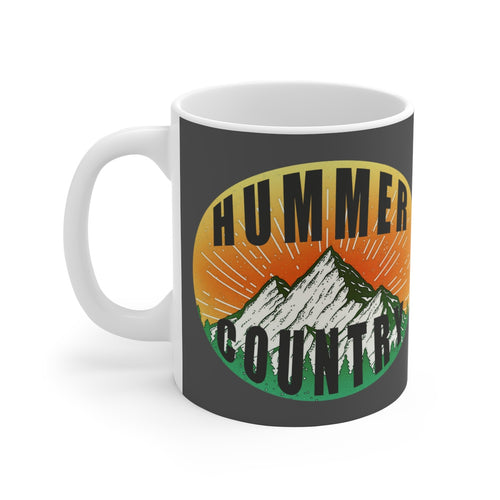 Hummer Country White Ceramic Mug by SpeedTiques