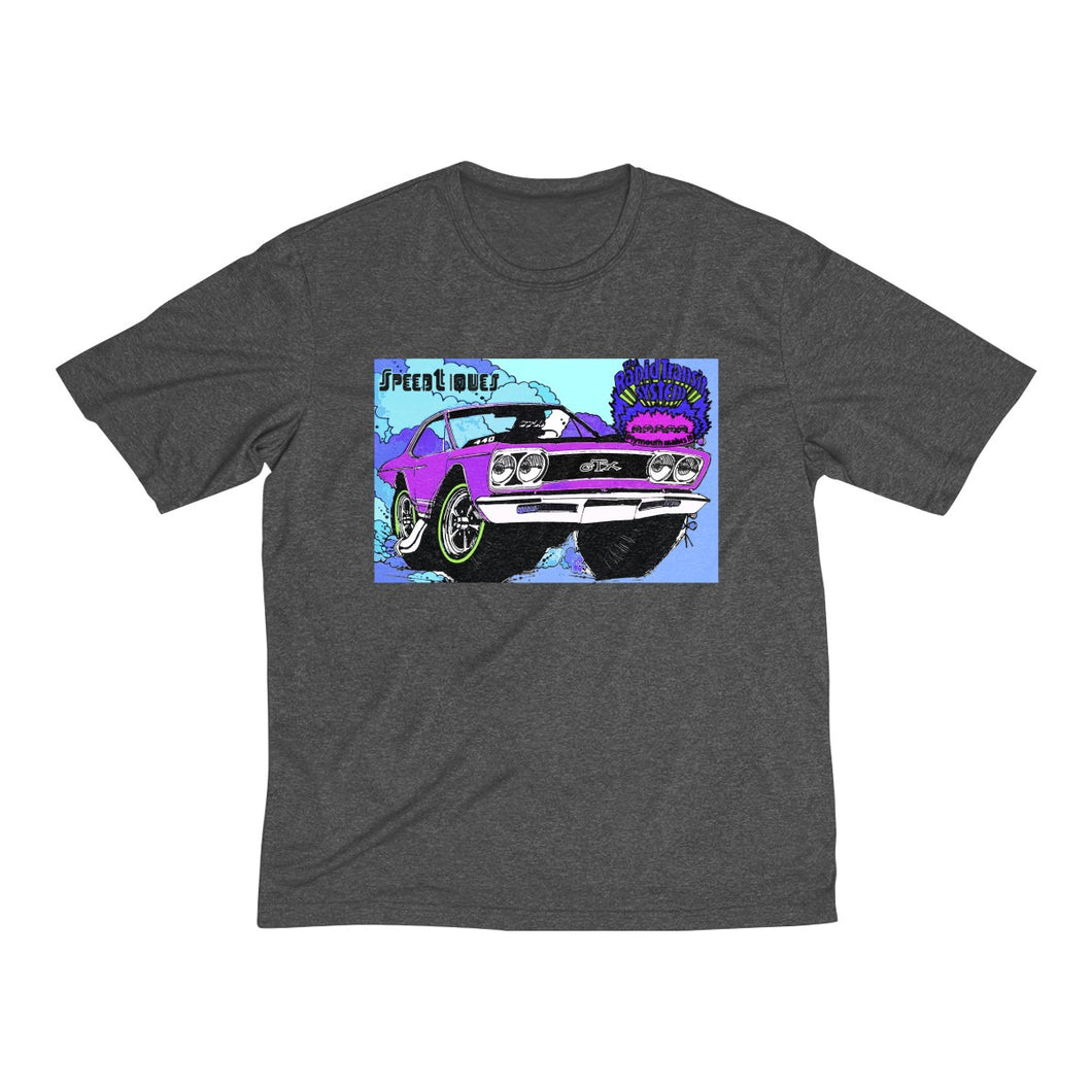 1969 Plymouth GTX Men's Heather Dri-Fit Tee by SpeedTiques