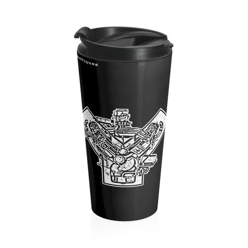 Ford Y-Block Stainless Steel Travel Mug by Retro Boater