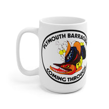 Plymouth Barracuda Coming Through White Ceramic Mug by SpeedTiques