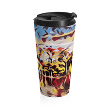 Up North Boathouse Art Stainless Steel Travel Mug