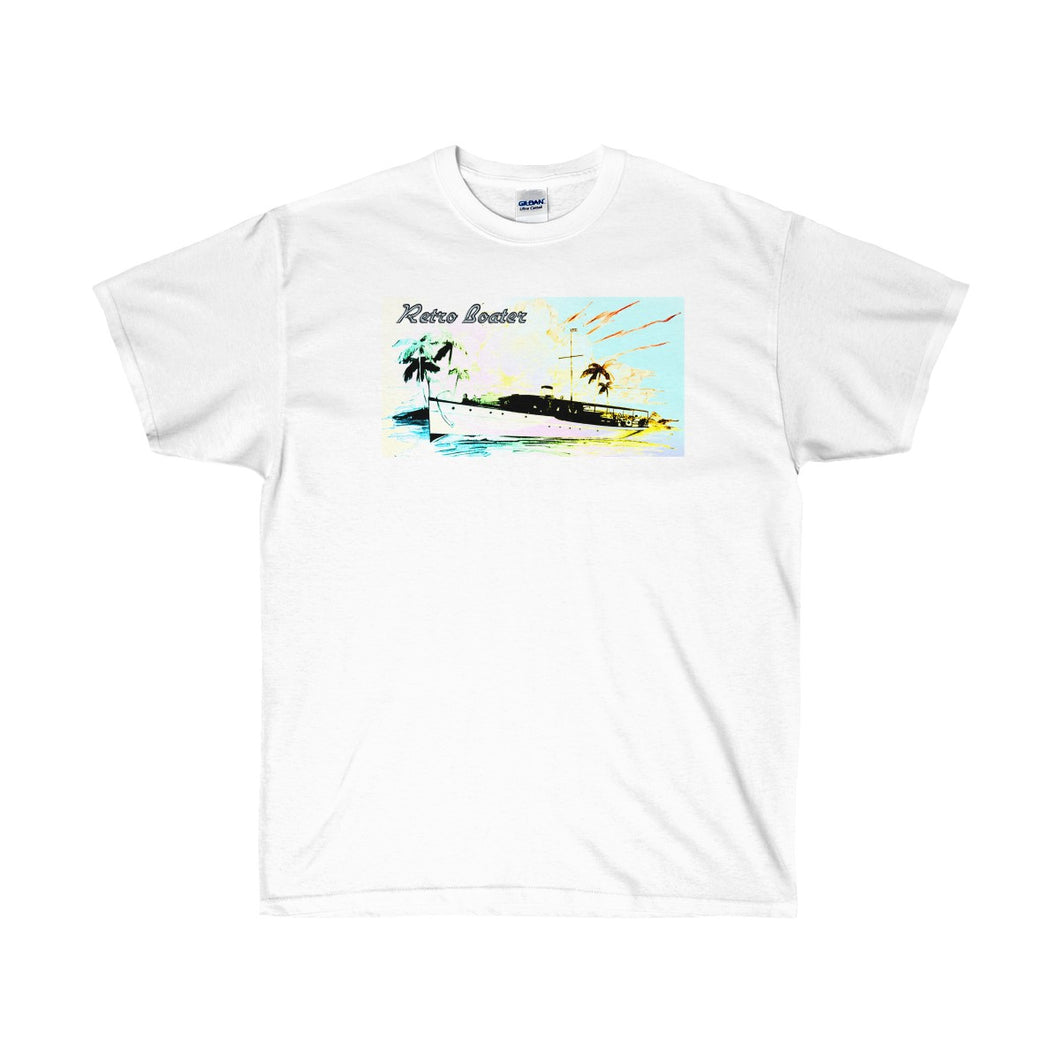 Retro Boater in the Tropics Unisex Ultra Cotton Tee